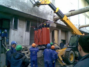 Installation of power supply system 10 kV